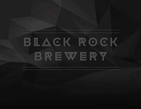 Vector-Rendered Booze Branding - Black Rock Brewery by Josh Snodgrass Uses Raw Images