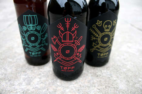 Viking-Inspired Beer Branding - TOFF Stimulates Images of a Nordic Viking
