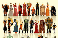 Minimal Fantasy Character Art - Betteo's Game of Thrones Fan Art Simplifies Over 30 Characters