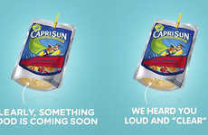 Transparent Juice Boxes - The Capri Sun 'Clear Bottom' Pouches Help You Spot Mold Before You Drink