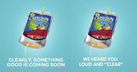Transparent Juice Boxes - The Capri Sun