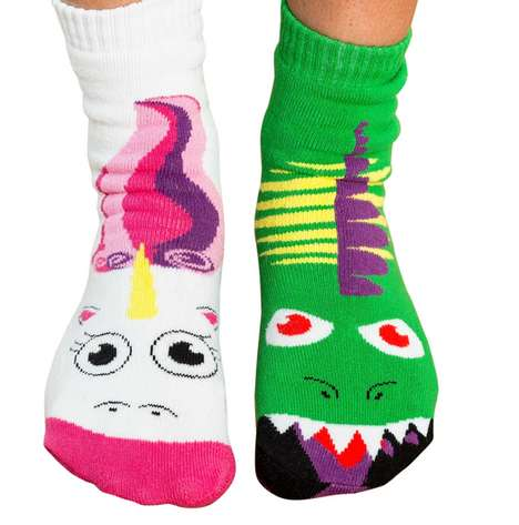 Mythically Mismatched Socks - Vs. Socks Put Fantastical Characters Side by Side