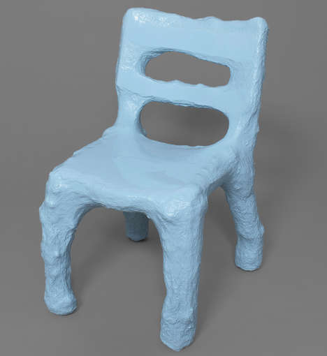 Paper Mache Seats - These Unique Seats Are Made Through Reverse Engineering