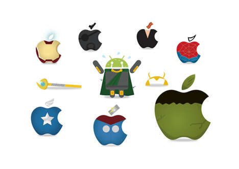 Heroic Logo Makeovers - These Creative Apple Logos Will Save You From Boredom