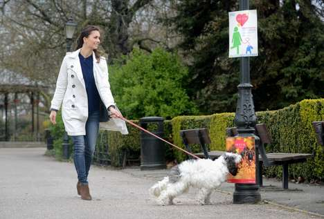 Pet Food-Scented Posters - Match.com Cleverly Advertised Its Bark in the Park Singles Social Event