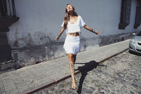 Hippie-Chic Lookbooks - The Love & Lemon Spring 2014 Collection is Vibrant and Sultry