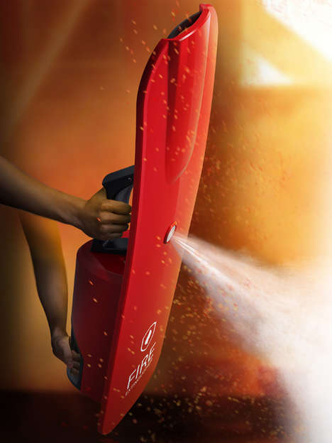 Shielded Fire Extinguishers - This Fire Extinguisher Keeps Users Safe in More Ways Than One