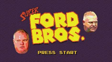 Political Brother Gaming Parodies - The Ford Brothers Star in This Super Mario-Like Video Game