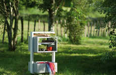 Modern Food Carts - The KAMA Outdoor Trolley Makes Hosting Parties Outdoors Easier