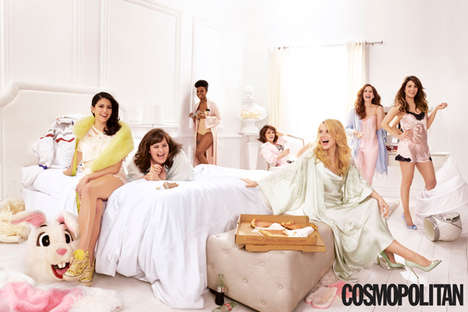Comedian Slumber Party Editorials - The 'SNL Sleepover' is a Provocative Affair