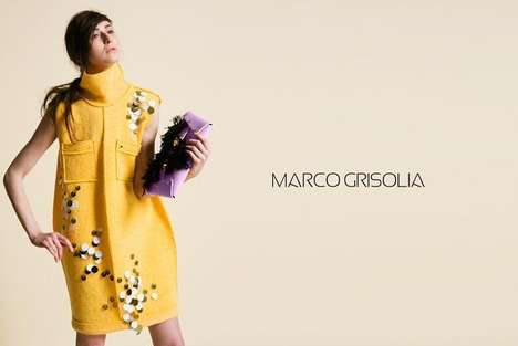 Modern Art-Inspired Fashion - The Marco Grisolia AW14 Lookbook is Full of Chic Urban Designs