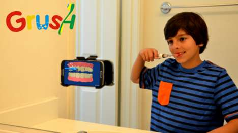Amusing Gaming Toothbrushes - The 'Grush' Kids' Toothbrush Turns Brushing into a Video Game