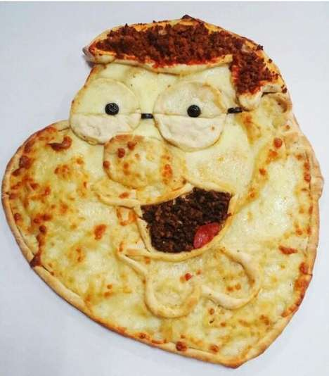 Mouth-Watering Portrait Pizzas - Chef Wilhelm Rodriguez Creates Delicious Artworks with Food