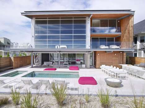 Eco-Friendly Oceanside Abodes - This Sustainable Beach House is Unique and Stunning