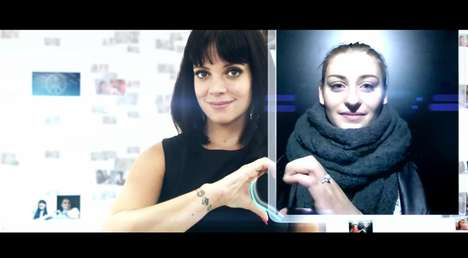 Celebrity Peace Projects - Lily Allen Takes a Stand with the Axe Peace Project and Their Fans