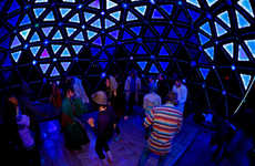 Interactive Dancing Domes - This Unique Lighting Art Installation for Burning Man Reflects Emotions
