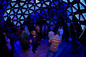 A Light Dome Immersed with Music Creates a Shared Experience