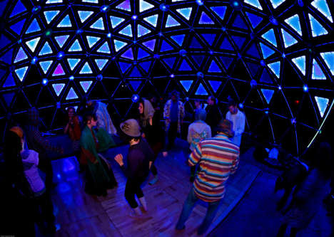 Immersive Illuminated Domes - A Light Dome Immersed with Music Creates a Shared Experience