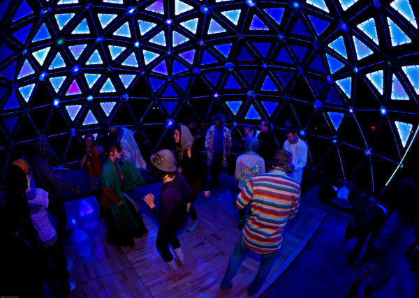 Interactive Dancing Domes