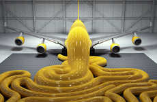 Oozing Airplane Art