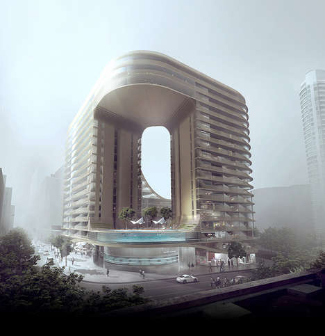 Sloping Urban Architecture - Infinity by Crown in Sydney by Koichi Takada Architects is Futuristic