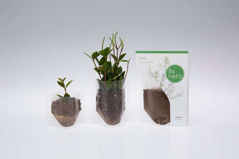 Instant Herb Garden Packaging - By.herb Starts to Spouts After Its Packaging is Opened