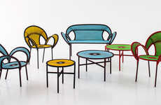 Whimsical Rattan Furniture - The Banjooli Collection Boasts Playful and Colorful Designs