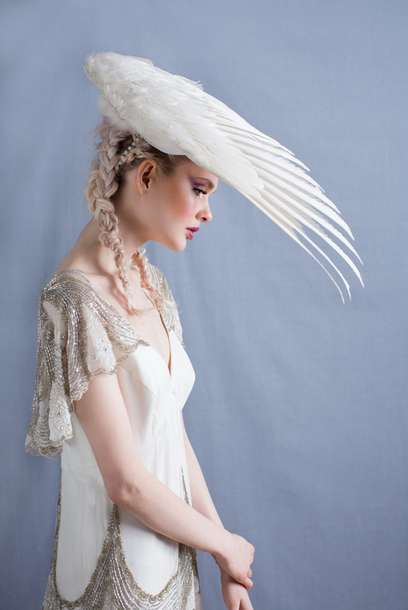 Taxidermied Bridal Accessories - Roadkill Couture