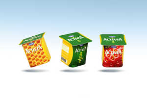 The New Activia Packaging Conveys Its Yogurt is a Slimming Snack