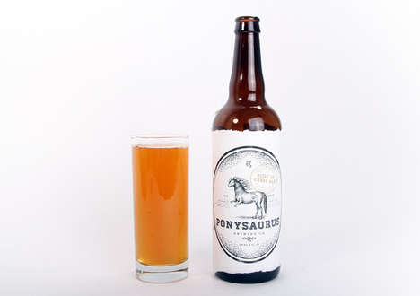 Dino-Pony Beer Brands - The Ponysaurus Beer Brand Blends Absurdity with Fantasy
