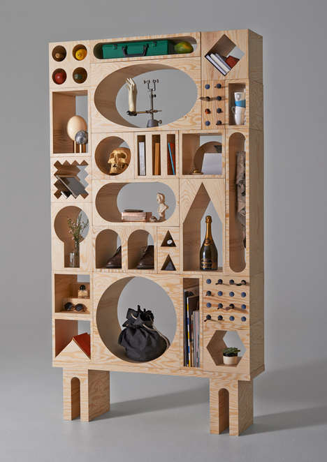 Object-Storing Furnishings - ROOM Wooden Storage Systems are Unconventional