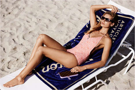 Glam Beach Bum Lookbooks - Jessica Hart Stars in the Louis Vuitton Summer 2014 Collection Campaign
