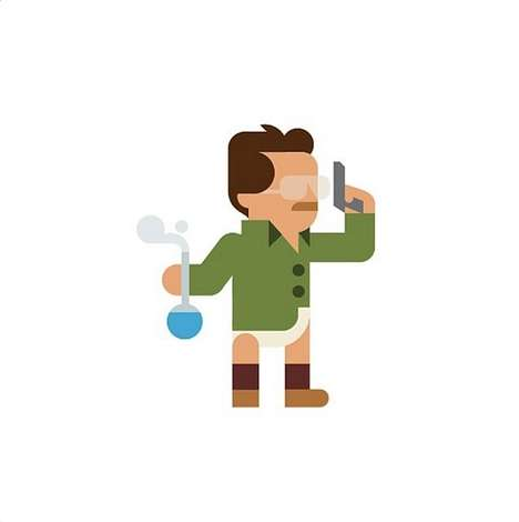 Minimalist Pop Culture Depictions - 'Hey Studio' Designs Cute New Characters On a Daily Basis