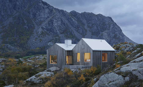 Understated Hillside Abodes - Norway's Vega Cottage is a Modern Translation of a Classic Cabin