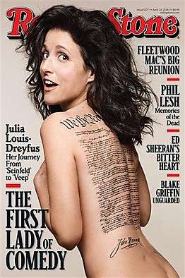 Politically Charged Celebrity Covers - Julia Louis-Dreyfus