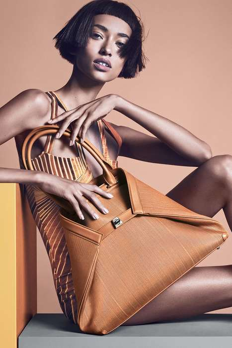 Architecture-Inspired Silhouette Lookbooks - Anais Mali Stars in the Akris Spring 2014 Campaign