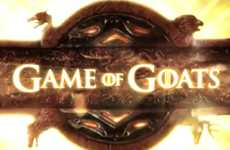 Bleating Fantasy Show Spoofs - Game of Goats Has Goats Sing the Game of Thrones Opening Noisily