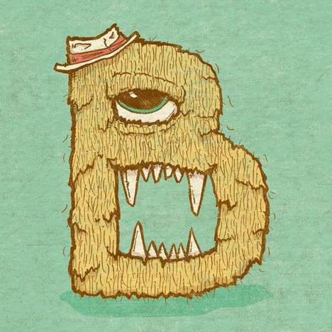 Monster Alphabet Illustrations - Chris Dedinsky's Monster Illustrations Will Delight Kids