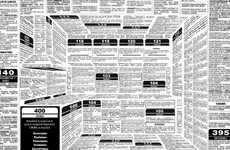 Illusory Kitchen Ads - This Creative Newspaper Advertisement Hides a Kitchen in Text Blocks