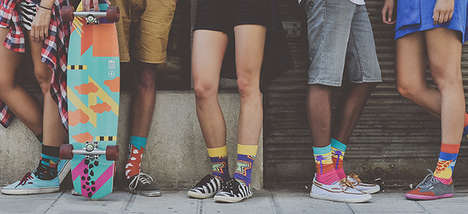 Funky Tribal Socks - The Zulu Zion Socks Invoke African Patterns and 90s Street Culture