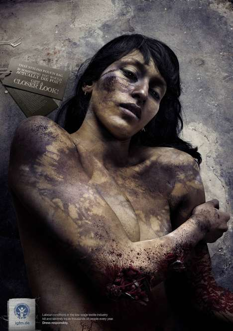 Gruesome Labor Injury Ads - The IGFM Get a Closer Look Campaign Gives Consumers Perspective