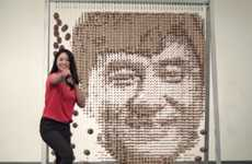 Celebrity Chopstick Portraits - This Piece of Jackie Chan Art is Made From 64,000 Chopsticks