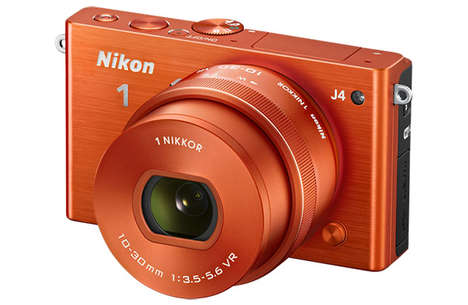Lightning Fast-Clicking Cameras - The Nikon 1 J4 Camera Can Click Up to 20 Photos a Second