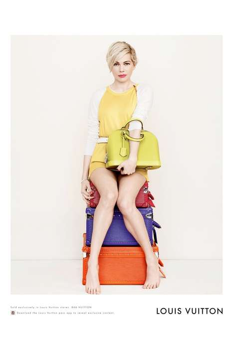 Fresh-Faced Celeb Lookbooks - Michelle Williams Stars in the Louis Vuitton 2014 Collection Campaign