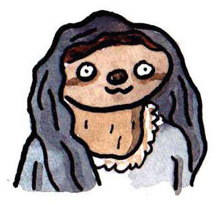 Medieval Sloth Illustrations - These Game of Thrones Sloths are Watercolor Paintings