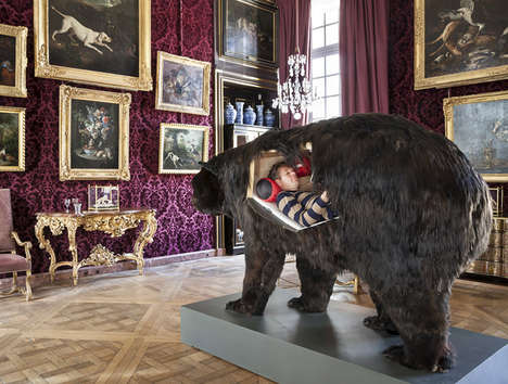 Modern Hibernation Experiments - Abraham Poincheval is Living in a Fake Bear for Two Weeks