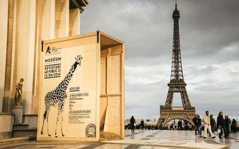 Roaming Zoo Animal Ads - The Ubi Bene Agency Creatively Advertises a Paris Zoo