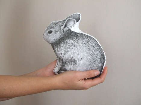 Realistic Rabbit Pillows - This Animal Pillow is Shaped Just Like a Real Bunny