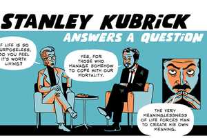Stanley Kubrick Answers a Question in Zen Pencil's Cartoon