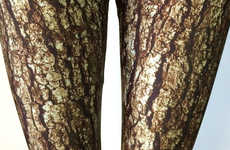 These Leggings Come in a Whimsical Tree Bark Print